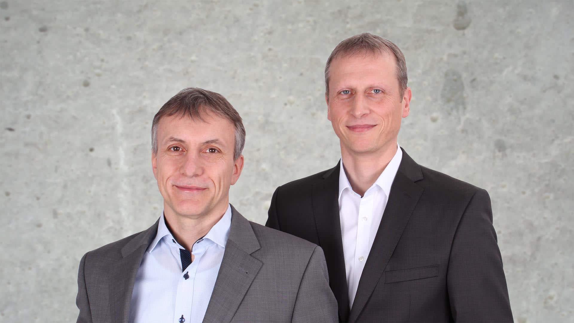 Geschäftsführer Jürgen Arlt und Roman Elsäßer